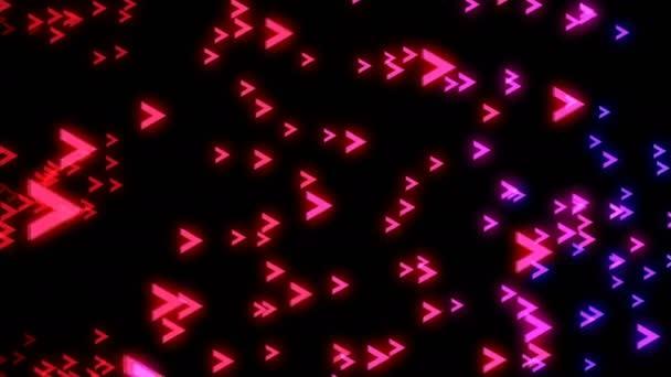 Abstraktní barevné šipky na černém pozadí. Digitální pozadí