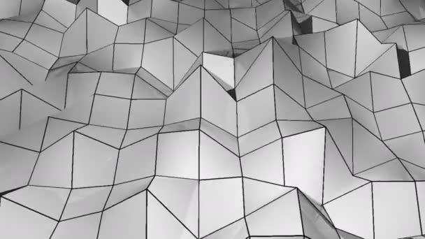 Abstraktní polygonální geometrického povrchu smyčka. rozlišení 4 k. Digitální pozadí