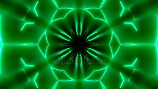 Fractal neon kaleidoscopic background. Abstract digital backdrop