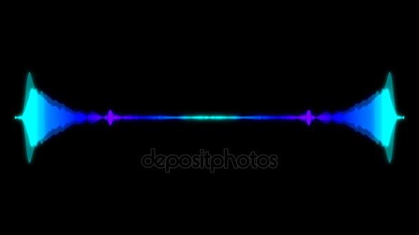 Abstrakter Audio Visualizer Equalizer. digitale Illustrationskulisse