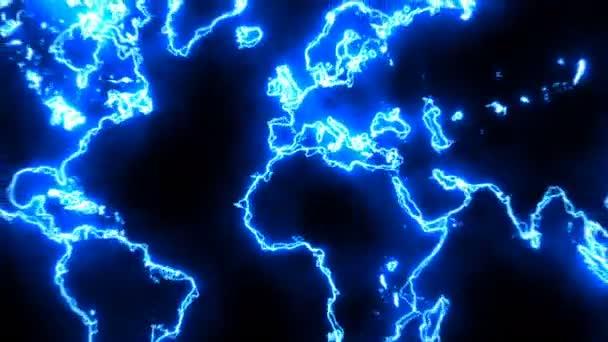 Abstraktní pozadí s mapou, futuristický svět