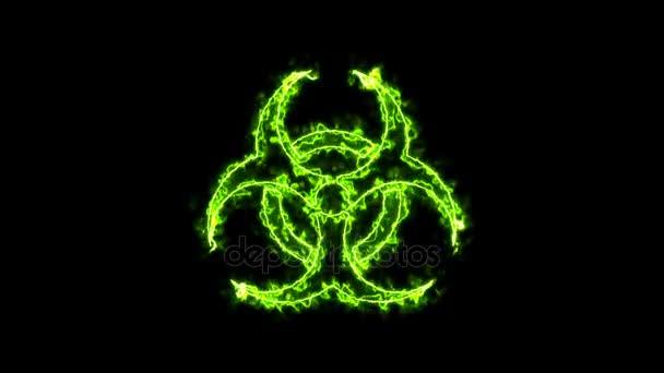 Zusammenfassung Hintergrund mit radioaktives Zeichen