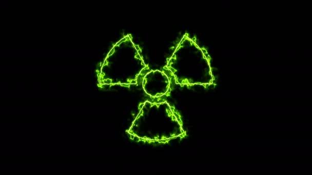 Radioaktív jel absztrakt háttér
