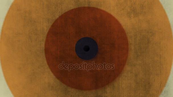 Abstraktní pozadí s retro kruhy z barevné papír textury