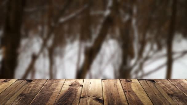 Perspektivní dřevo a rozostření pozadí