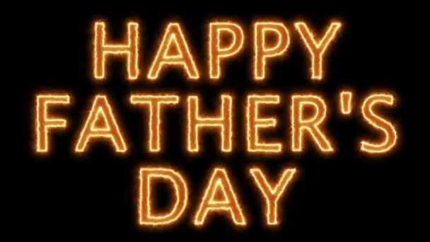 Otců Happy den text, 3d vykreslování pozadí, počítač generuje, může být použit pro svátky slavnostní design