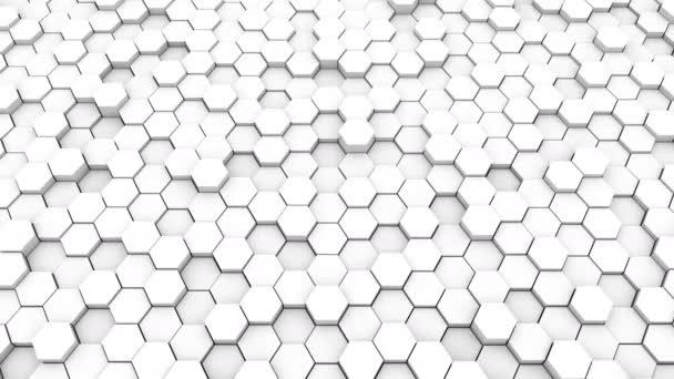 Abstrakten geometrischen Sechsecke, optische Illusion, computergenerierte 3d Rendering Hintergrund