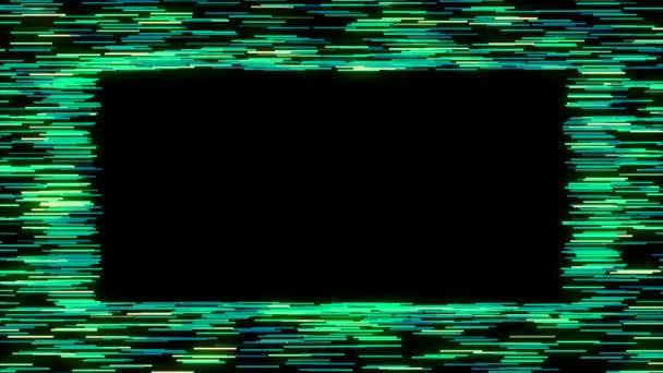 heller Rahmen. dynamischer Rand mit hellen Linien, 3D-Rendering-Hintergrund, Gestaltungselement, computergenerierter Hintergrund