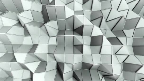 Simple low polygonal surface with edges, computer generated modern abstract background, 3d render