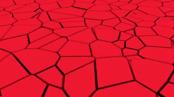Computergenerierte Oberfläche mit Frakturen. 3D-Rendering eines Erdbebeneffekts. Abstrakter Hintergrund