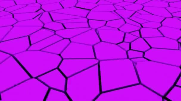 Počítačem vytvořený povrch se zlomeninami. 3D vykreslování zemětřesení efekt. Abstraktní pozadí