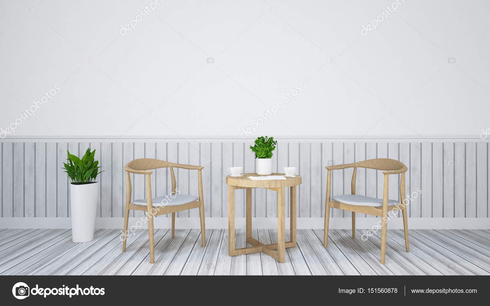 tavolo e sedia per sala da pranzo di legno / 3d Rendering — Foto ...
