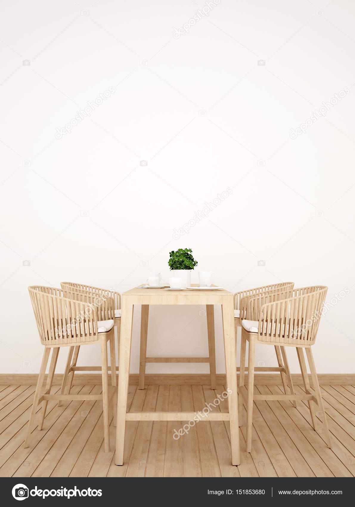 Cuadro de comedor de madera diseño vertical - 3d Rendering — Fotos ...