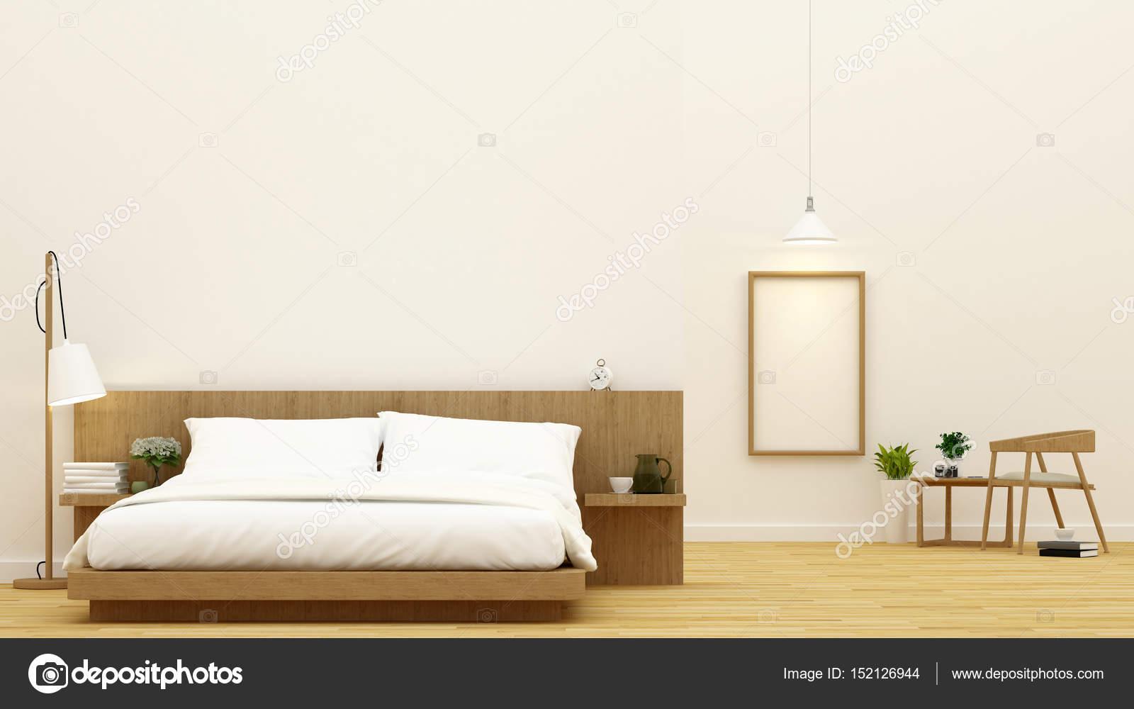 slaapkamer en eetkamer voor condominium en hotel ontwerp 3d re stockfoto