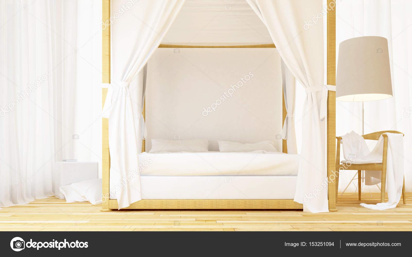 Schlafzimmer Cleanes Design   3d Rendering U2014 Stockfoto