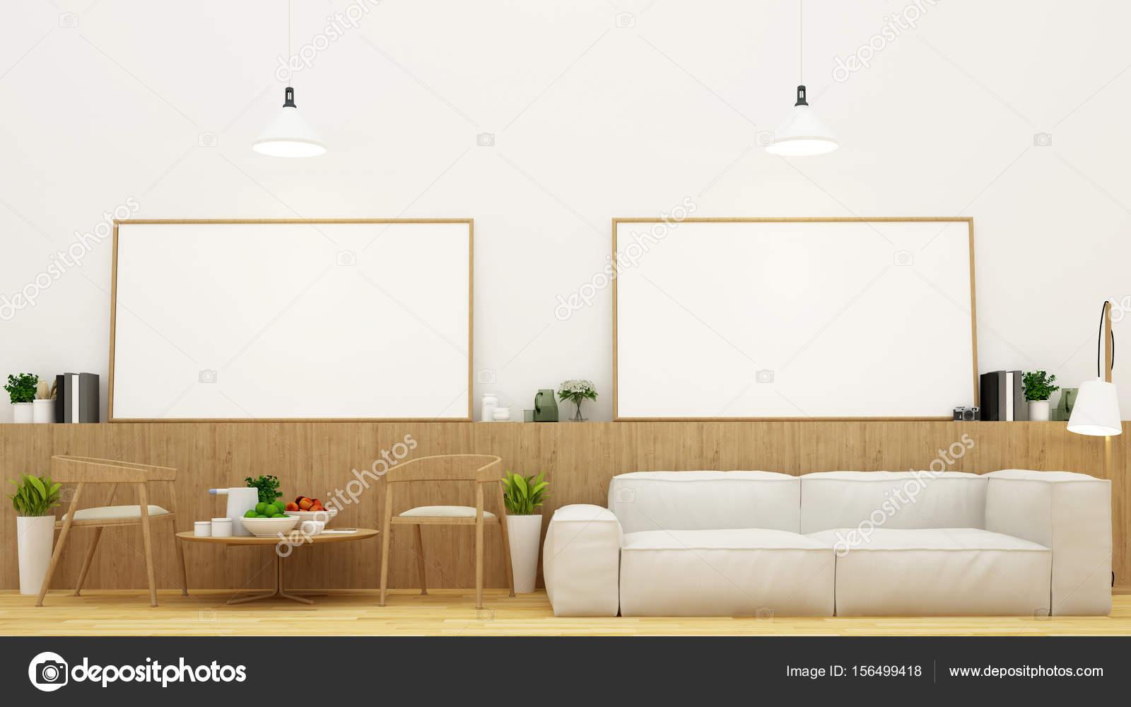 Eethoek In Woonkamer : Eethoek in woonkamer en frame voor illustraties in d rendering