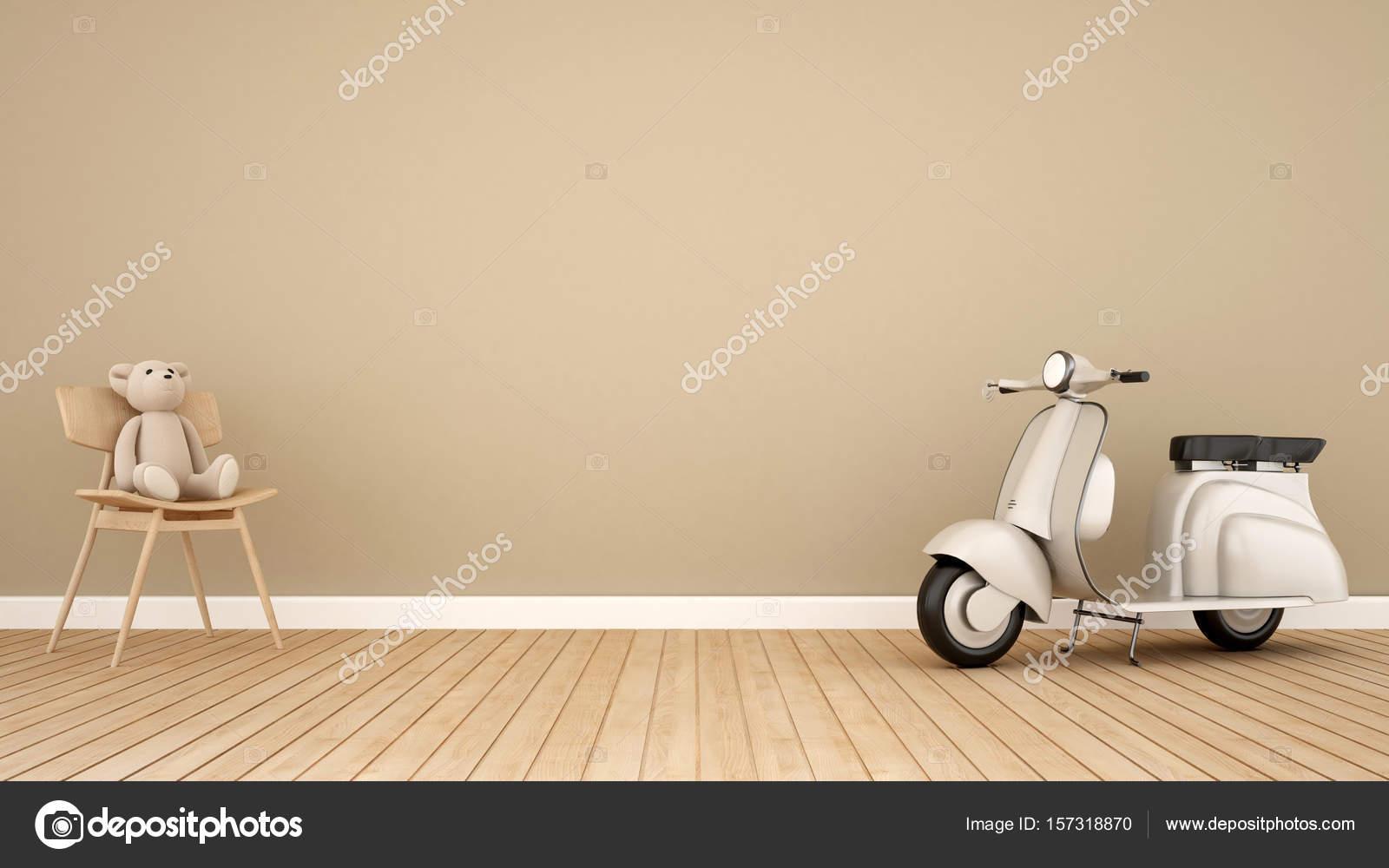 Sedie A Dondolo Depoca : Orso sulla sedia a dondolo e moto d epoca in camera kid d