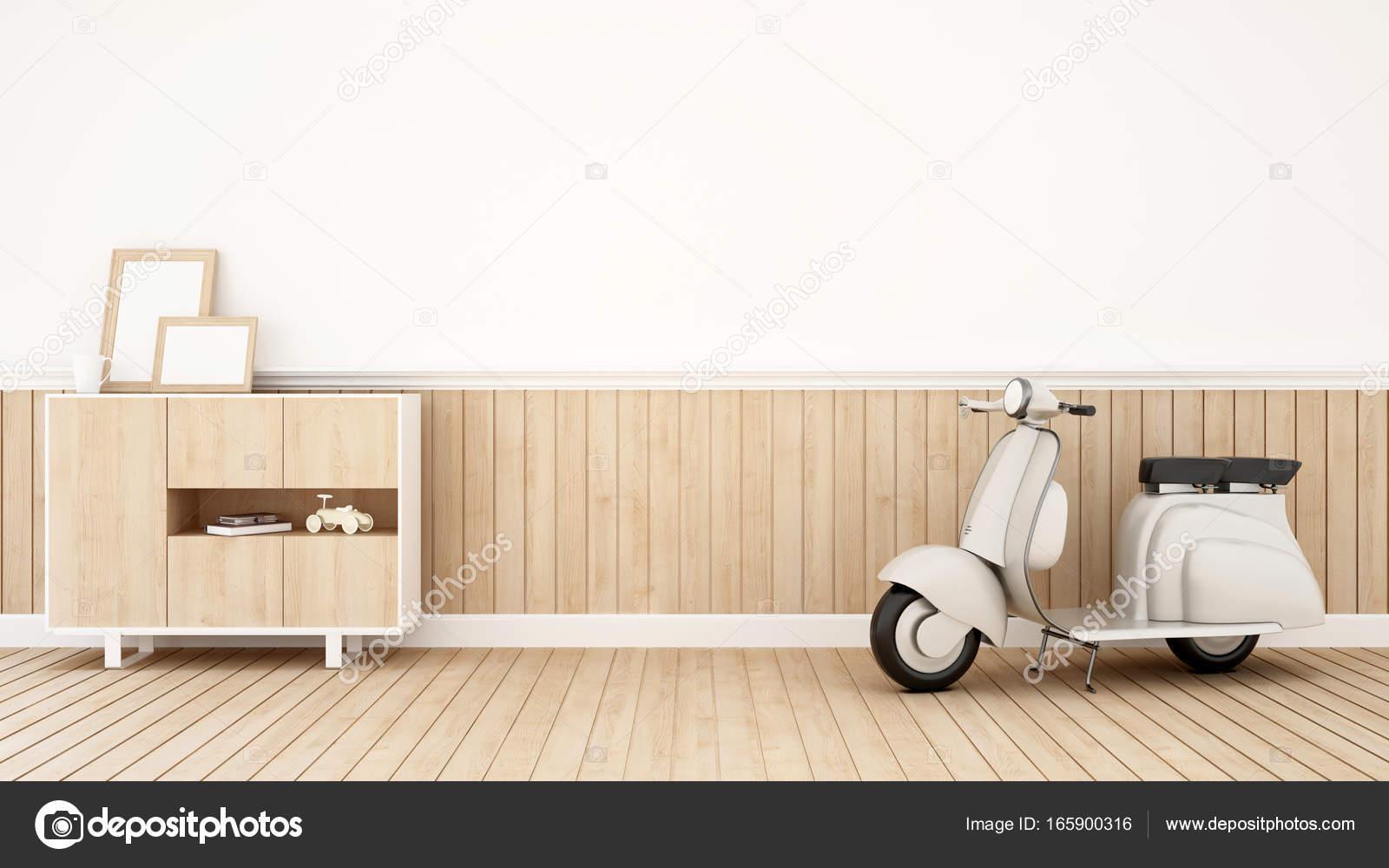 Motorcycle in Living room - 3D Rendering — Stock Photo ...