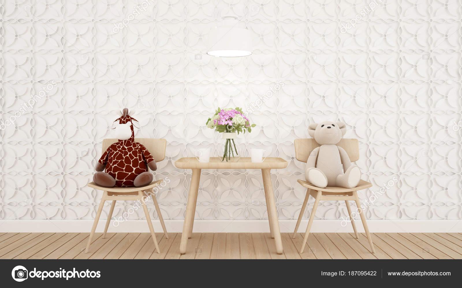 lebenden Bereich und Wand-Dekoration in Coffee-Shop oder Baumschule ...