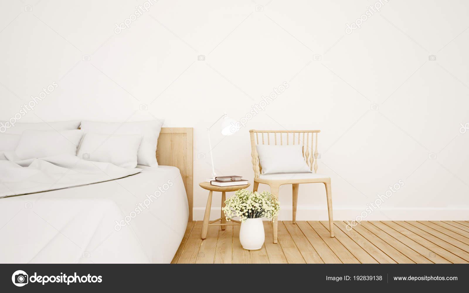 slaapkamer en woonkamer in hotel of appartement - interieur design ...