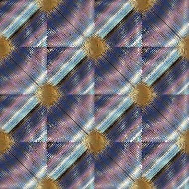 Elegance striped lattice 3d seamless pattern. Surface texture.