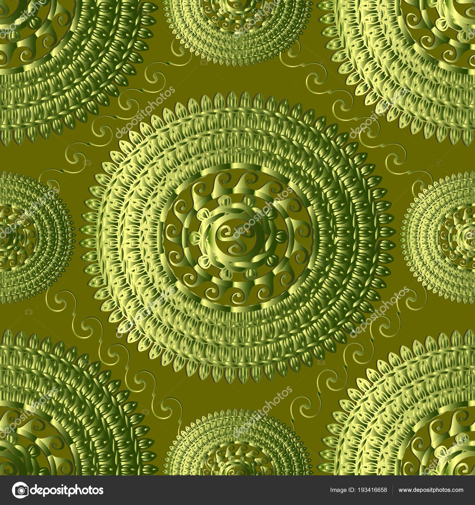 Textura verde 3d griego punto de patrones sin fisuras. Grunge Vector ...
