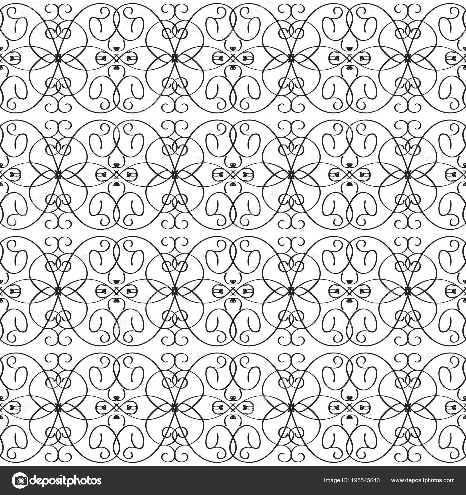 Línea Vintage arte tracery vector de patrones sin fisuras ...