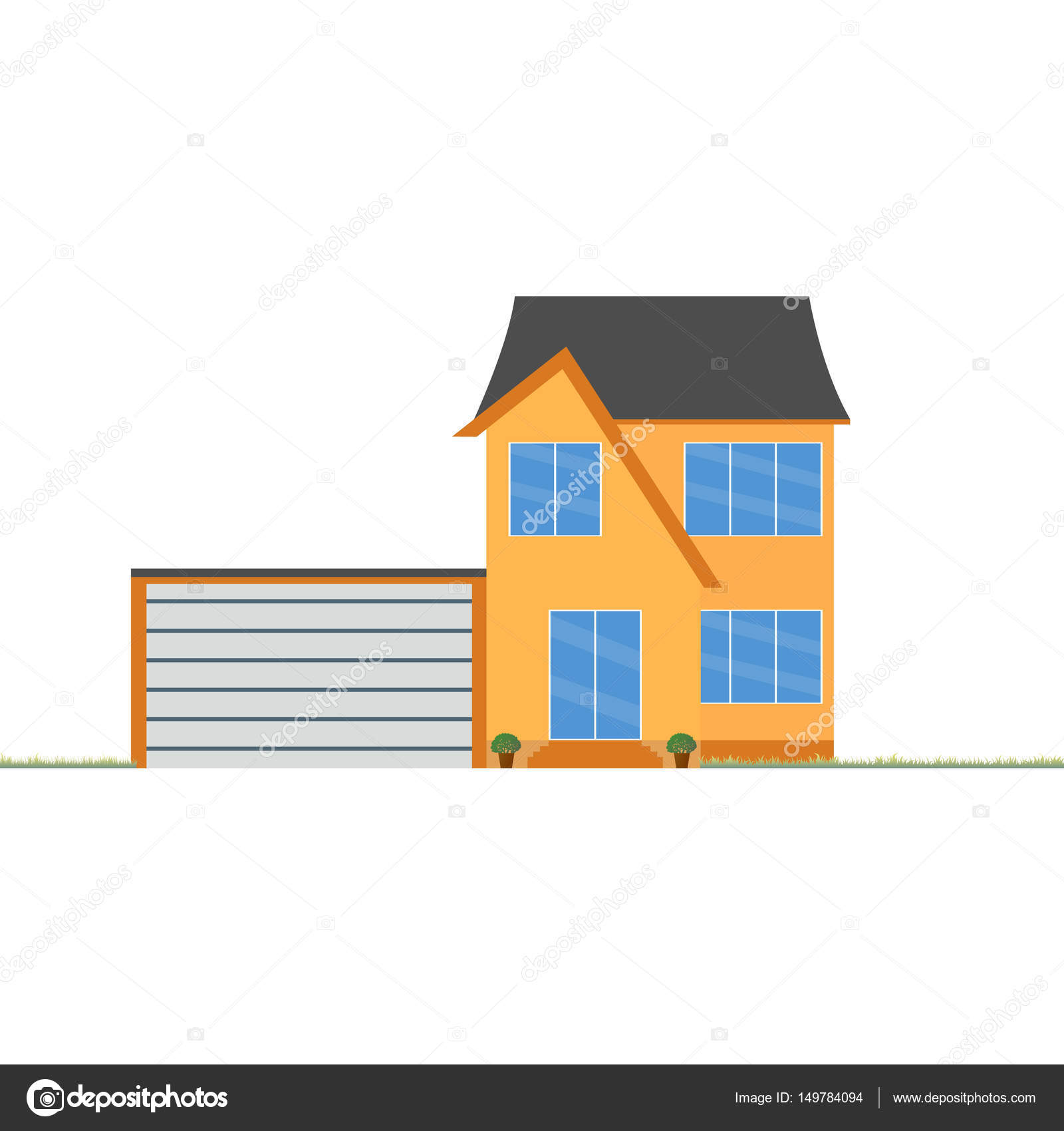 Colorful house concept. House flat icon. Design your own ...