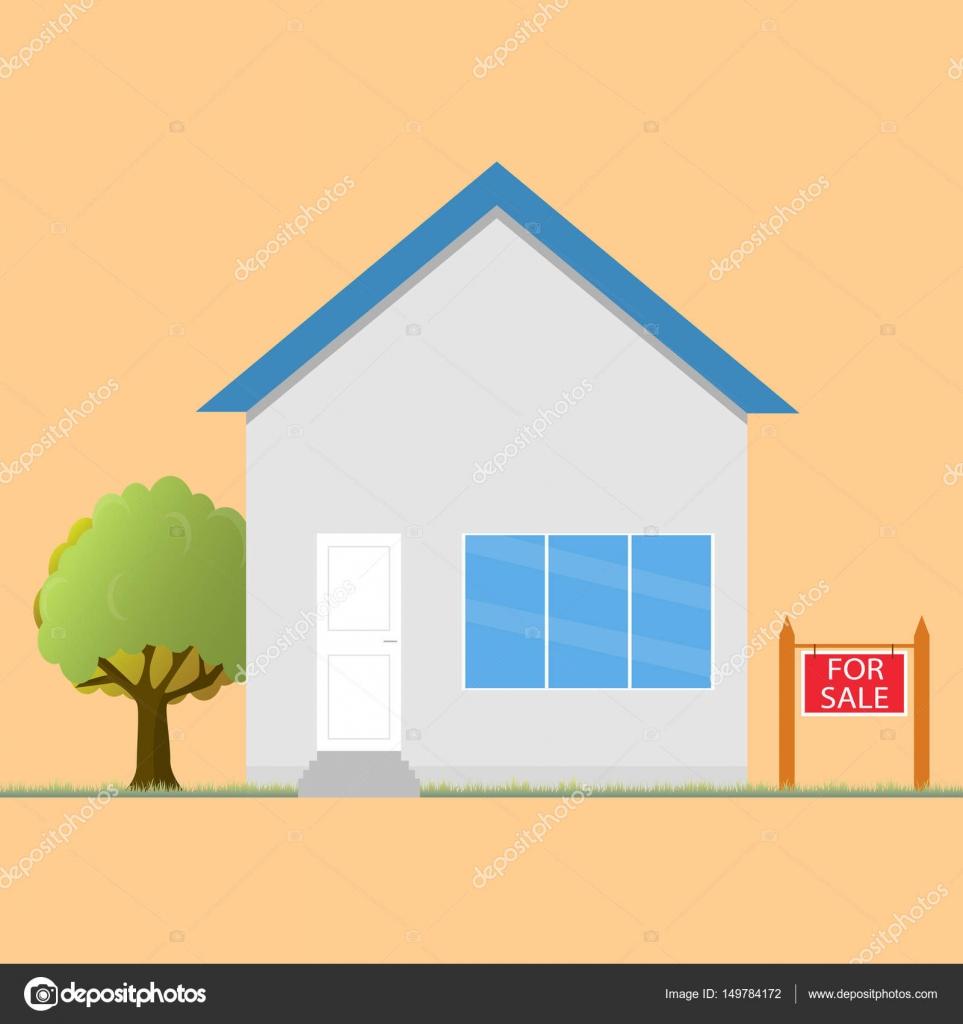 Bunte Haus Konzept. Für den Verkauf. Flache Haussymbol. Gestaltung ...