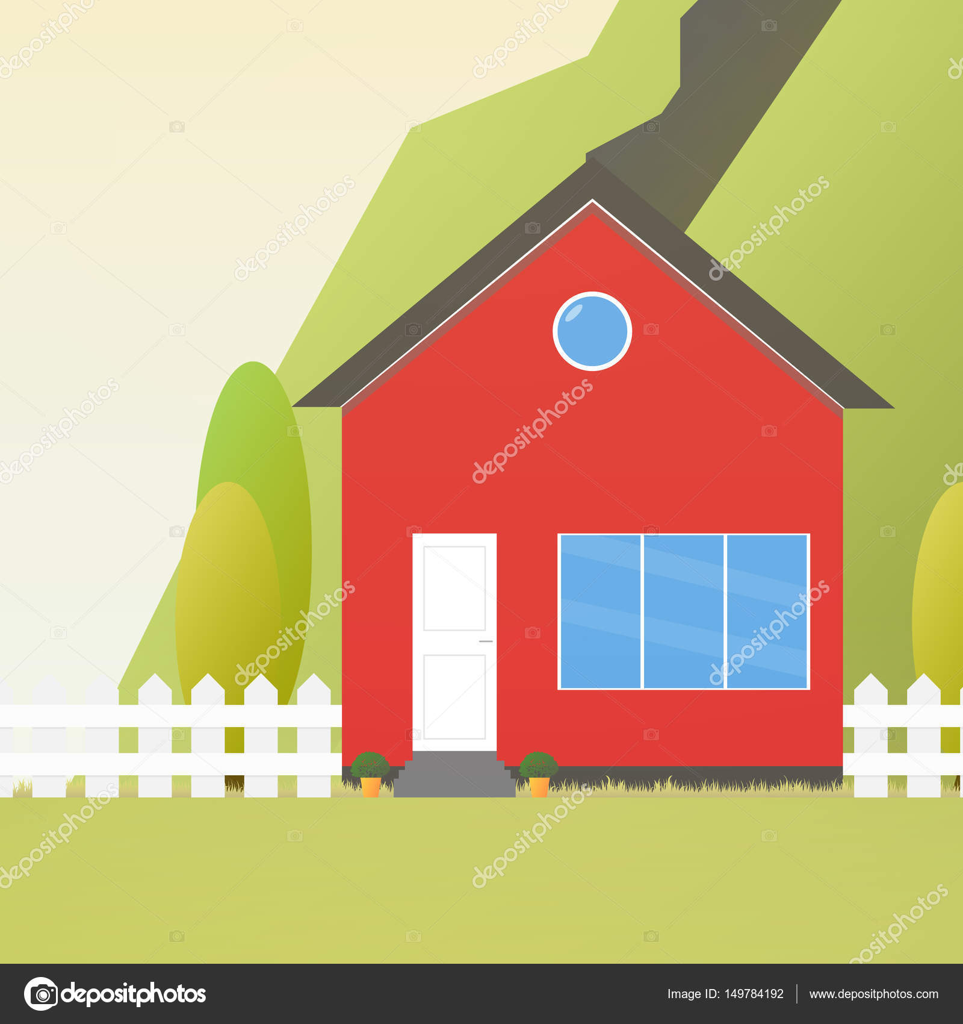 Bunte Haus Konzept. Flache Haussymbol. Entwerfen Sie Ihr eigenes ...