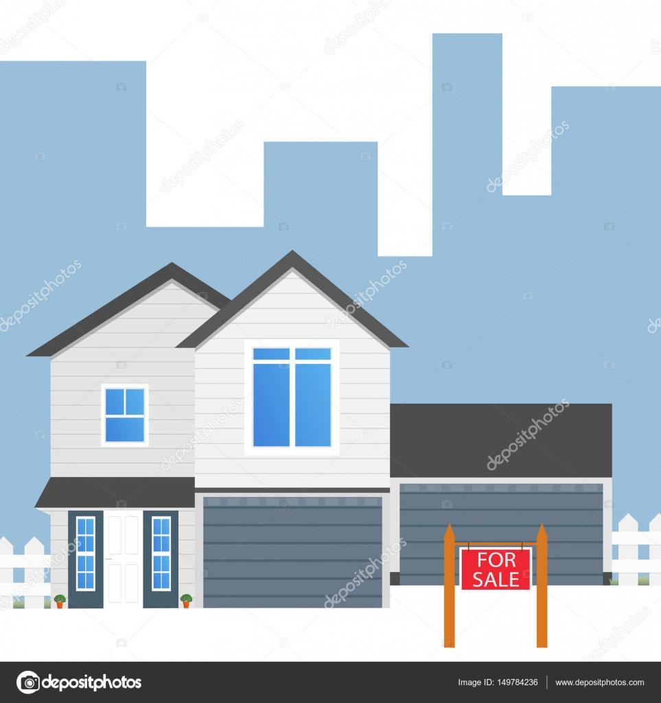 Bunte Haus Konzept. Für Den Verkauf. Flache Haussymbol. Gestaltung Ihrer U2014  Stockvektor