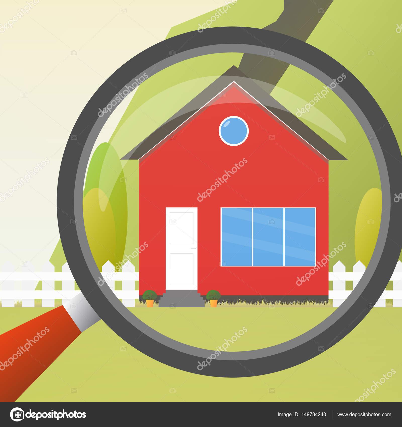 Haus-Konzept. Für den Verkauf. Flache Haussymbol. Entwerfen Sie Ihr ...