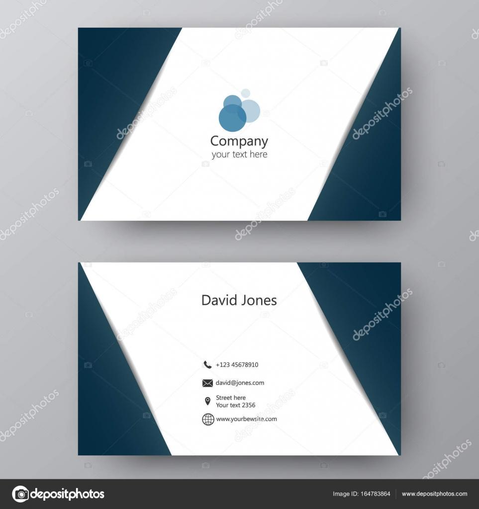 Modern presentation card with company logo. Vector business card ...
