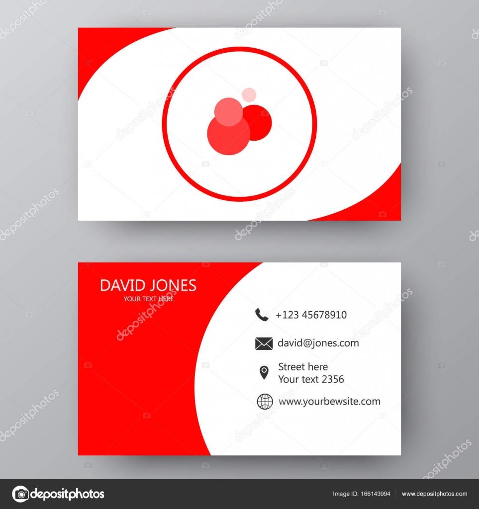plantilla de tarjeta de visita del vector tarjeta de visita para negocios y para uso personal tarjeta de presentacin moderna con logotipo de la empresa