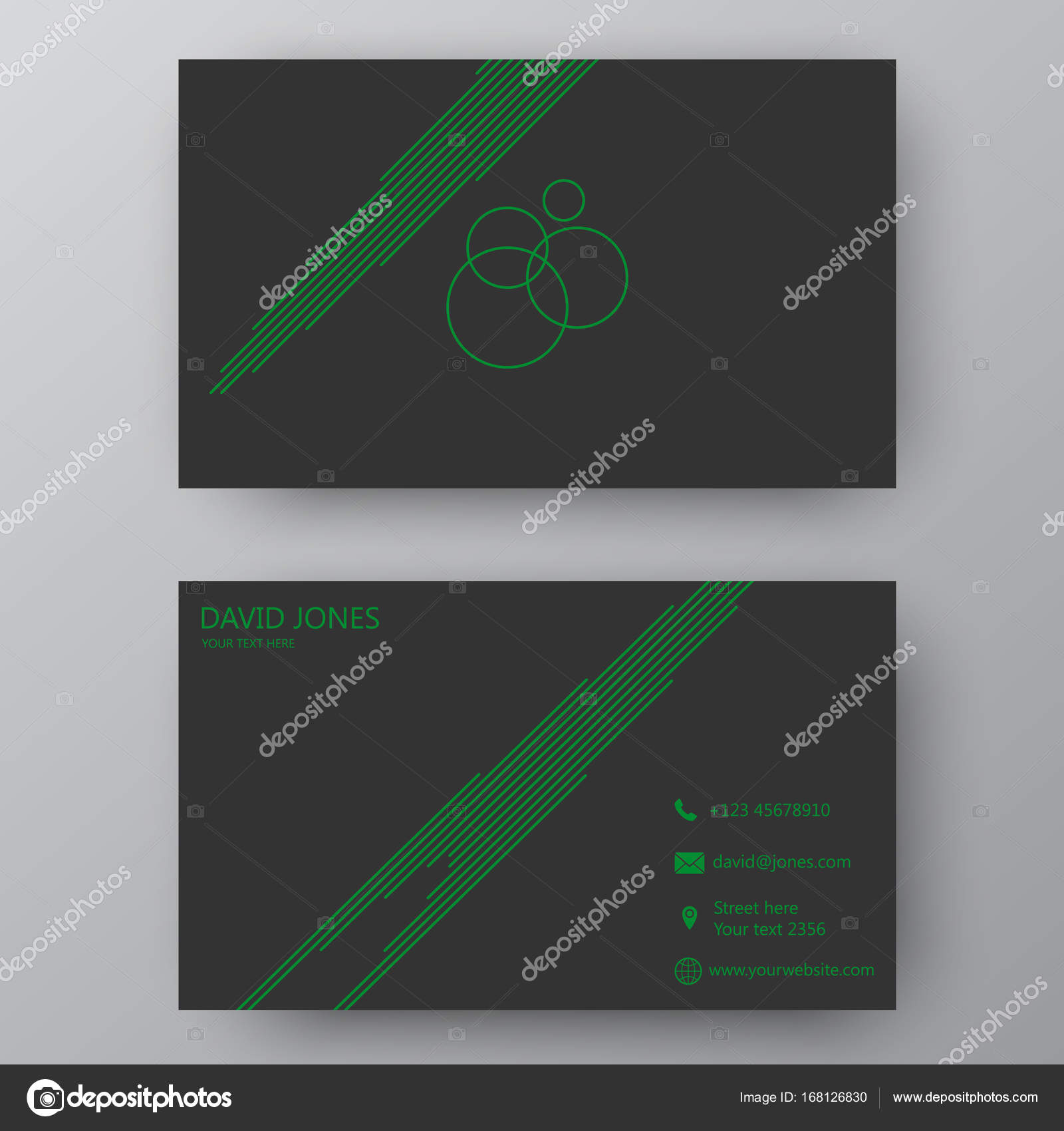 modern presentation card with company logo vector business card