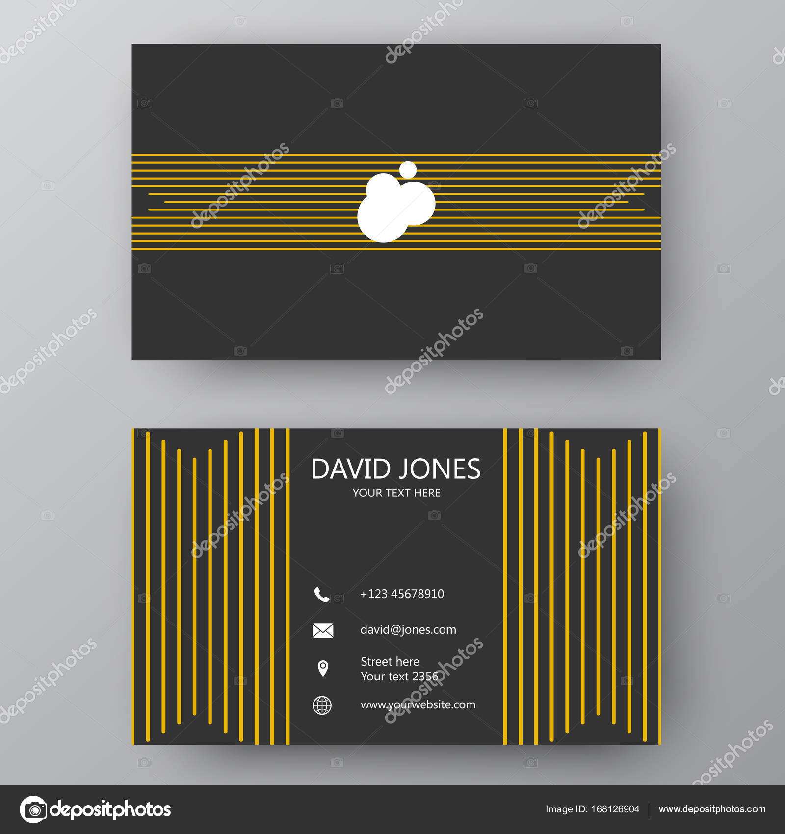 Modern presentation card with company logo vector business card vector business card template visiting card for business and personal use modern presentation card with company logo vector illustration design magicingreecefo Image collections