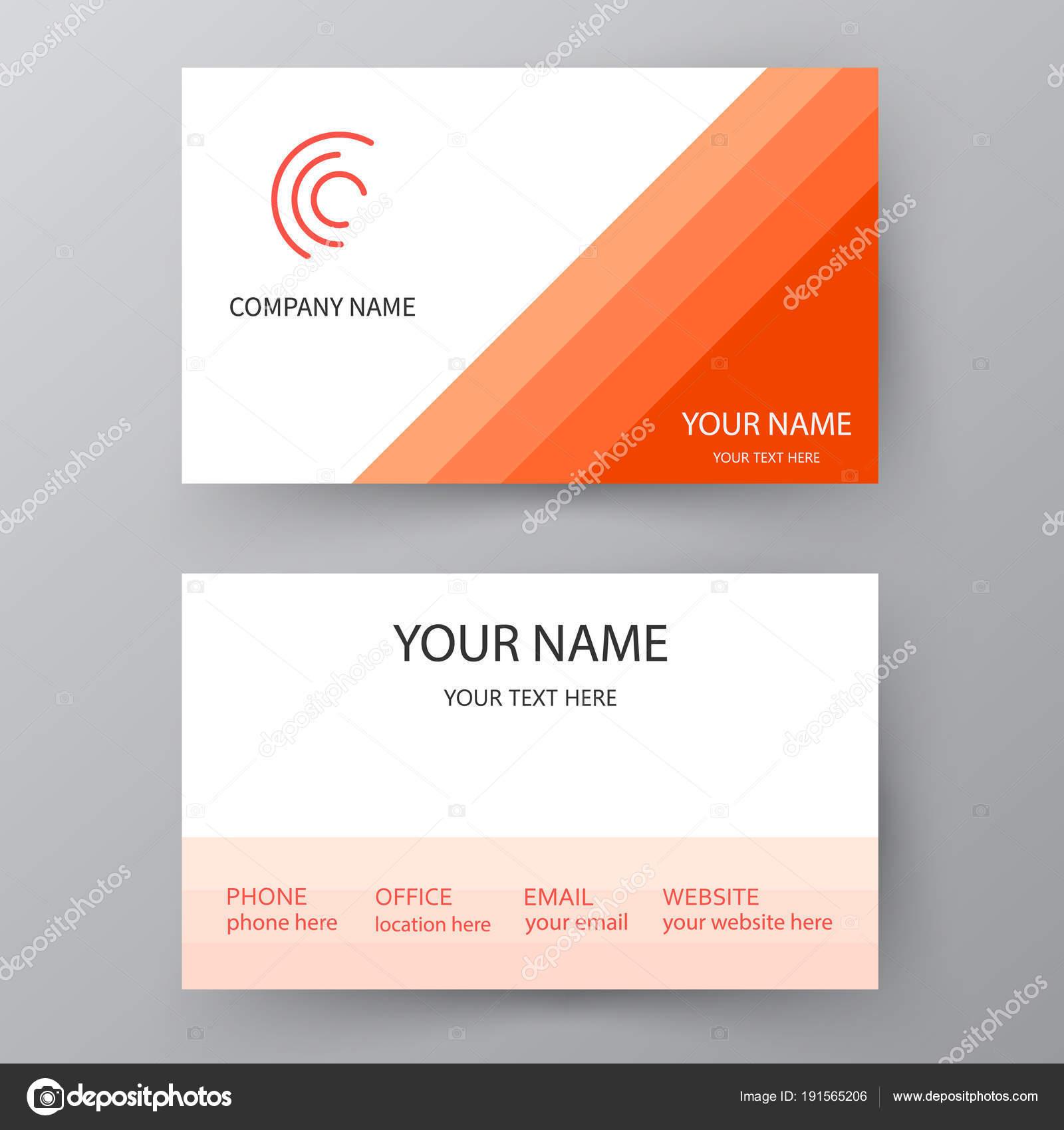 Vector Visitenkarte Vorlage Visitenkarte Für Geschäfts Und