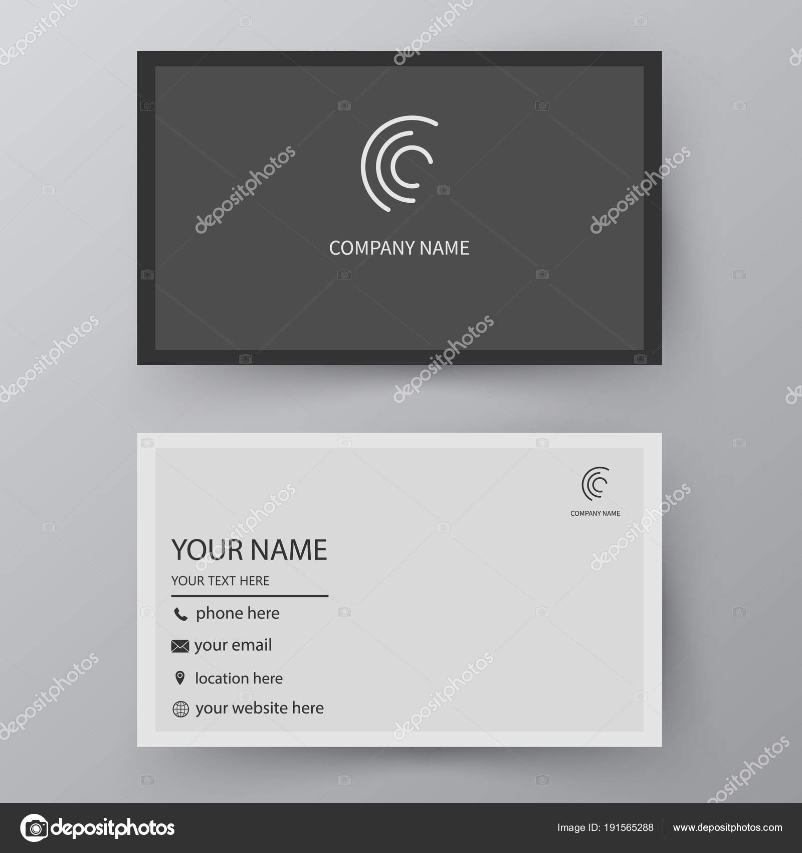 Vector Business Card Template Visiting Card For Business And Pe - Complimentary card template