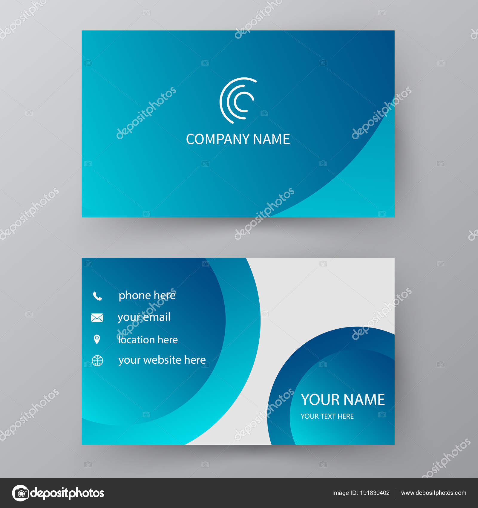 Vector Business Card Template Visiting Card For Business And Pe