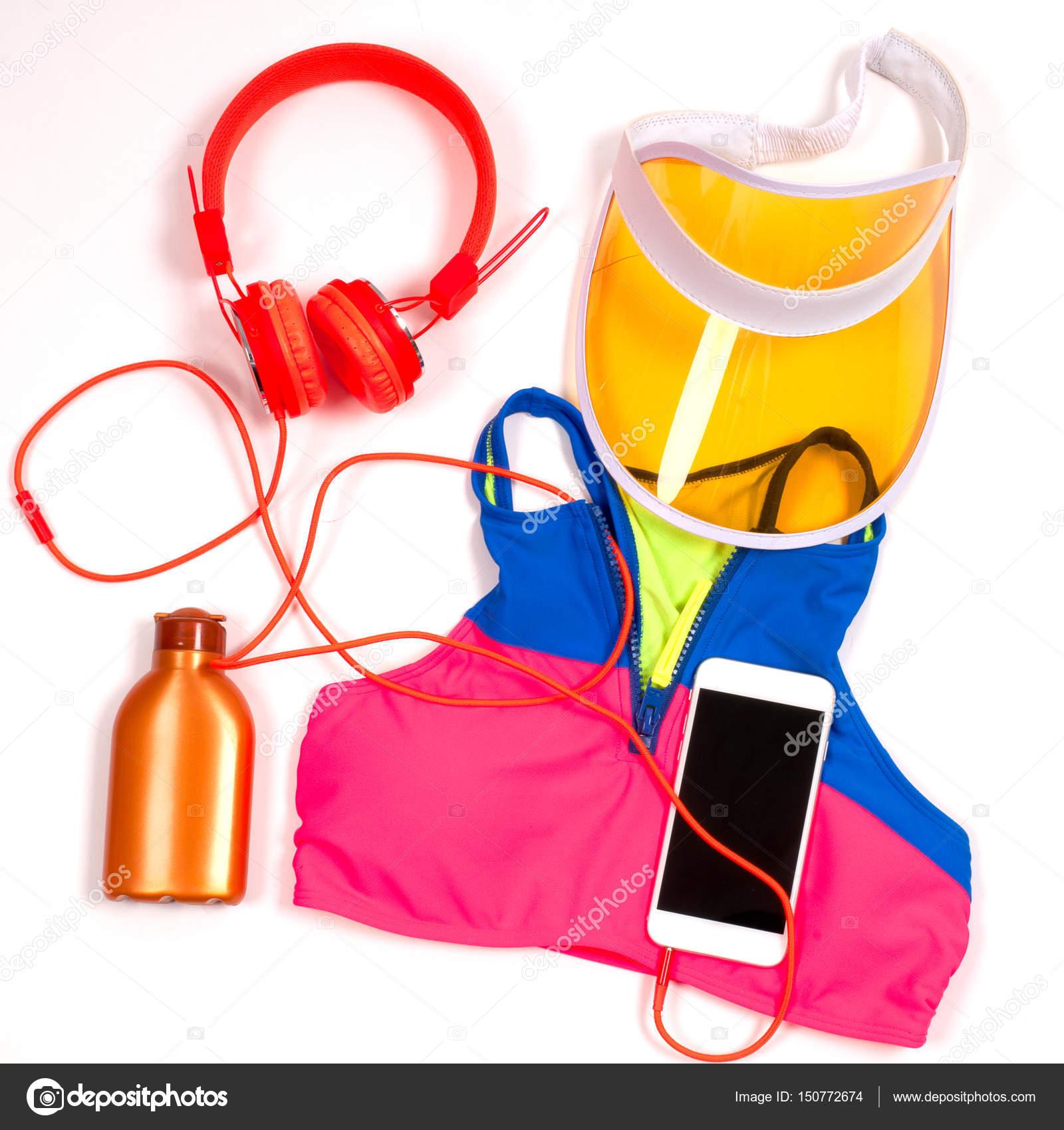Equipo de gimnasio entrenamiento ropa, sujetador de los