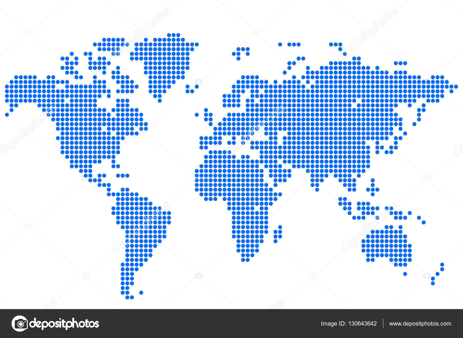 Abstract background world map stock vector mutlik1yandex abstract background world map round dots vector illustration vector by mutlik1yandex gumiabroncs Choice Image
