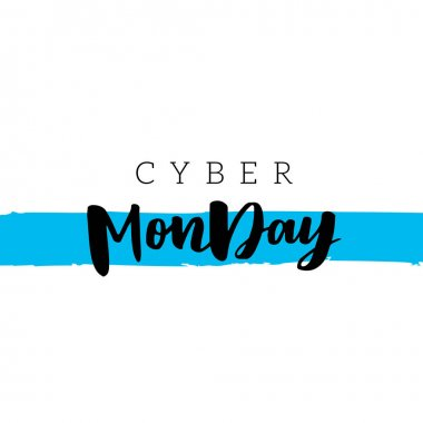 Cyber Monday sale lettering design template. Advertising Poster design. Sale Discount Banner Label style. Vector illustration