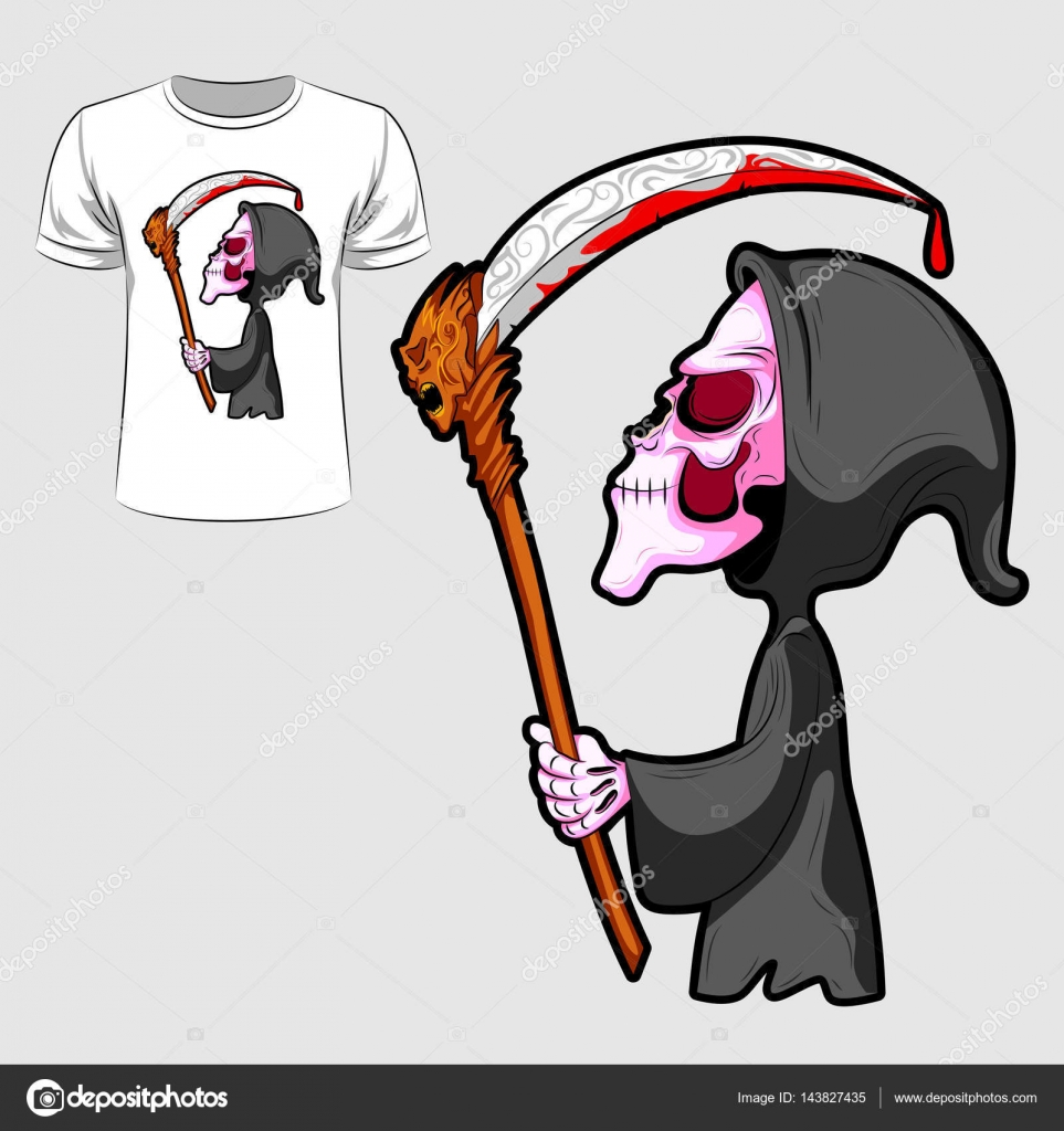Imprimir diseño gráfico Resumen del esqueleto con la espada para ...