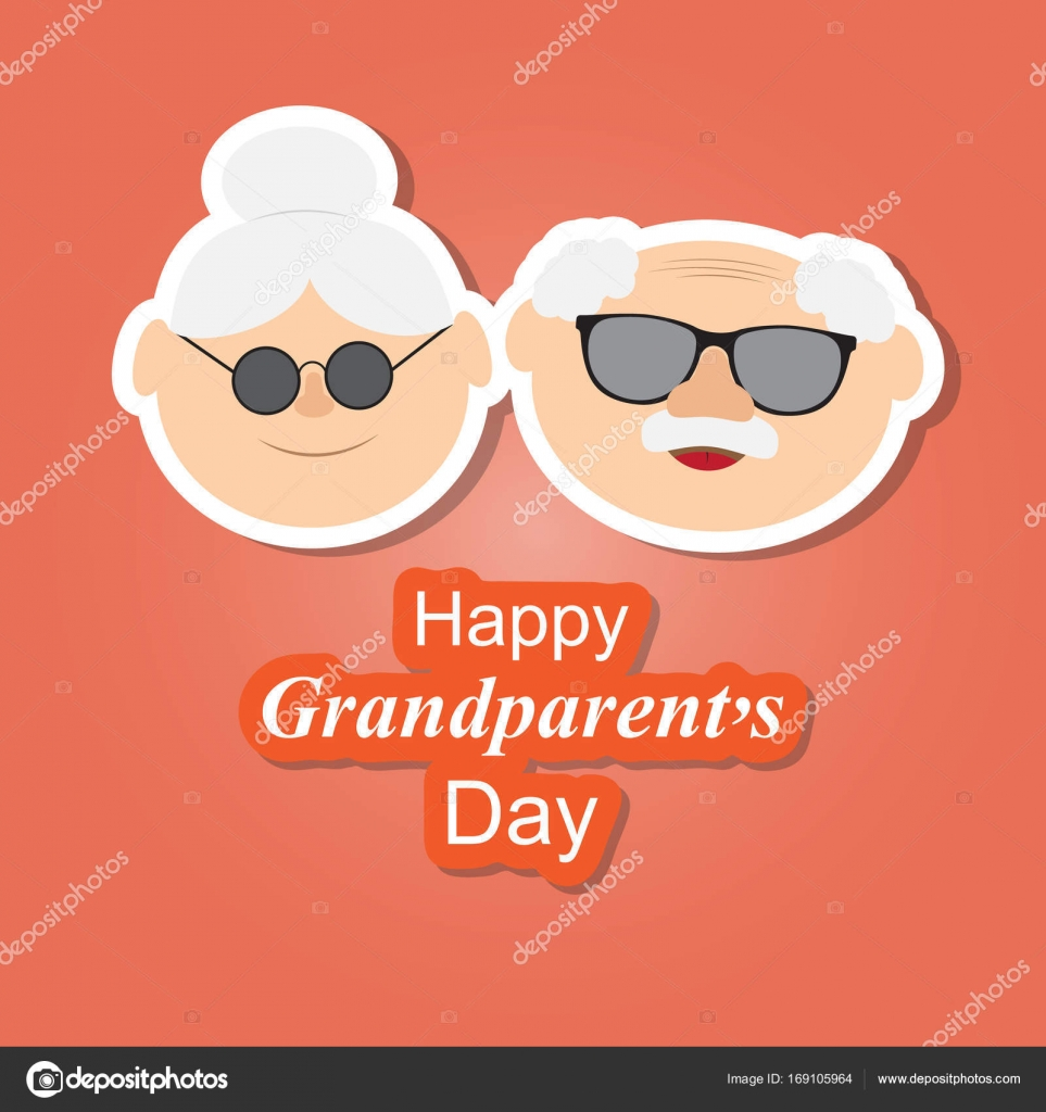 Greetings Card On Grandparents Day With The Phrase And Face Of