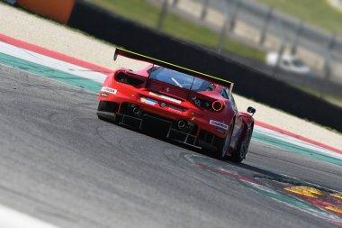 12 ore Hankook Mugello 18 March 2017: #11 Scuderia Praha, Ferrari 488 GT3: Jiri Pisarik, Josef Krl, Matteo Malucelli on Mugello Circuit, Italy.