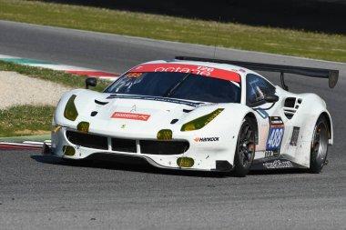 12 ore Hankook Mugello 18 March 2017: #488 Octane 126, Ferrari 488 GT3: Bjorn Grossmann, Fabio Leimer on Mugello Circuit, Italy.