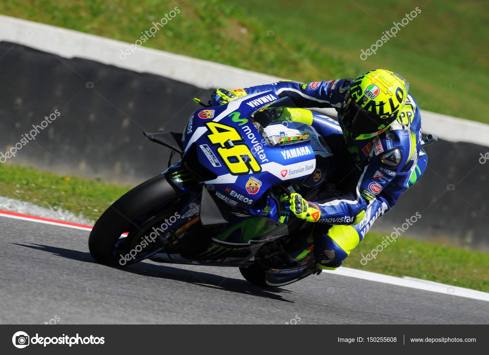 Mugello Italy May 21 Italian Yamaha Rider Valentino Rossi At
