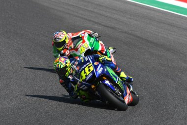 MUGELLO - ITALY, JUNE 2: Italian Yamaha rider Valentino Rossi at 2017 MotoGP GP of Italy on June 2, 2017