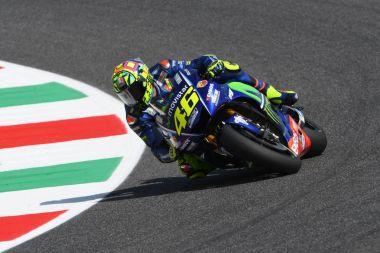 MUGELLO - ITALY, JUNE 2: Italian Yamaha rider Valentino Rossi at 2017 MotoGP GP of Italy on June 2, 2017