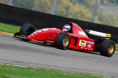 MUGELLO, IT, November, 2007: unknown run with Historic Ferrari F1 412 T2 during Finali Mondiali Ferrari 2007 into the mugello circuit in italy